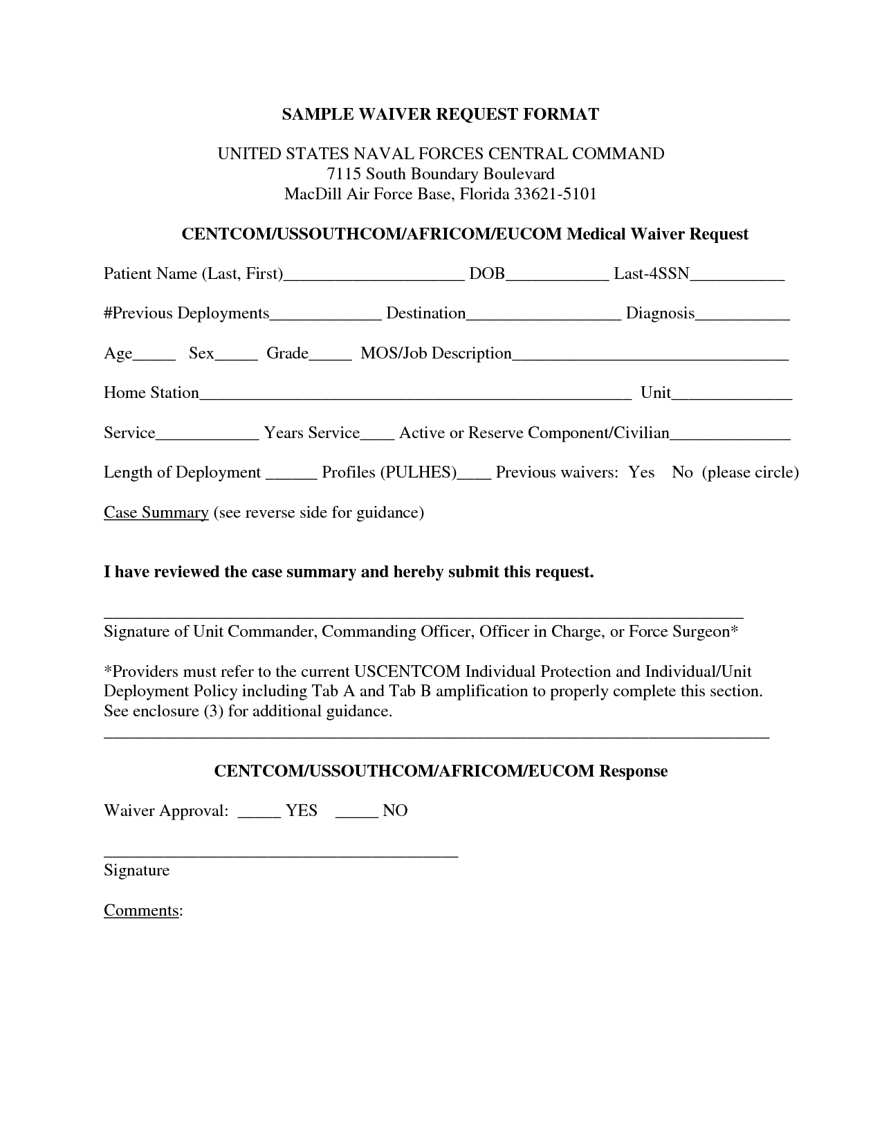 Sample Waiver Letter images - sample waiver form | Legal Documents ...