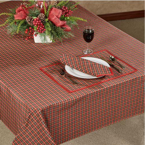 Lenox Holiday Nouveau Joyful Plaid Table Linens Table Linens Oblong Tablecloth Table