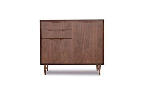 Butler Tall Media Console Cabinet Storage Es