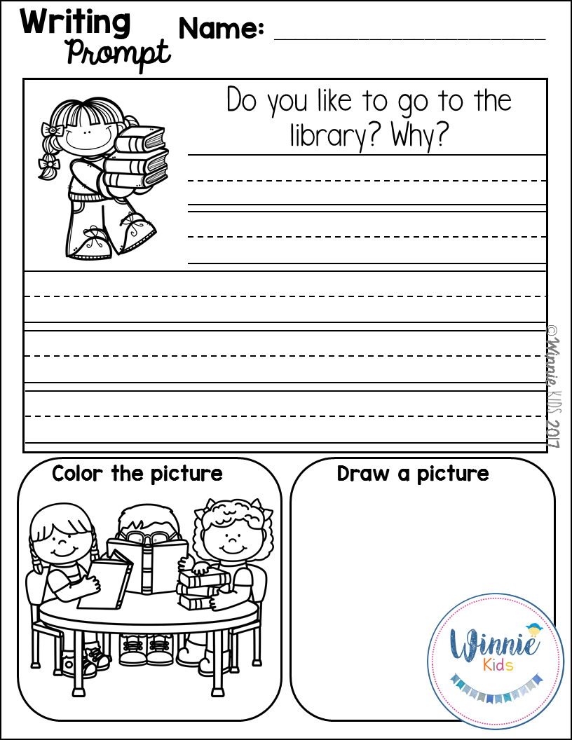 september writing and picture prompts k2 writers