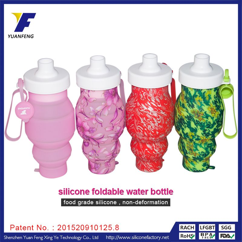 Folding Silicone Water Bottles Sport