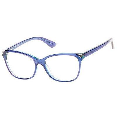 3ae11752bb29b Óculos de Grau Guess Acetato Azul Translúcido - GU2494090