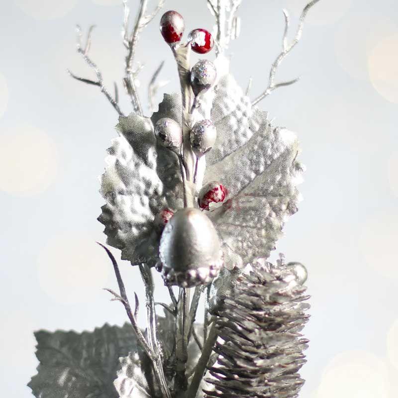 Silver Winter Woodland Pick