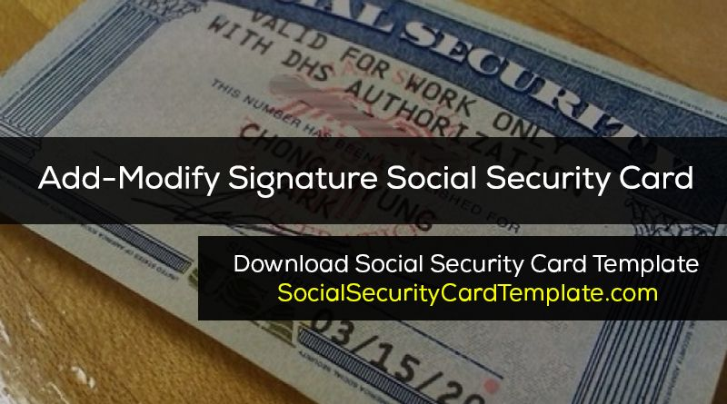 How To Make A Duplicate Social Security Card Fake Ssn Generator Social Security Card Card Template Report Card Template