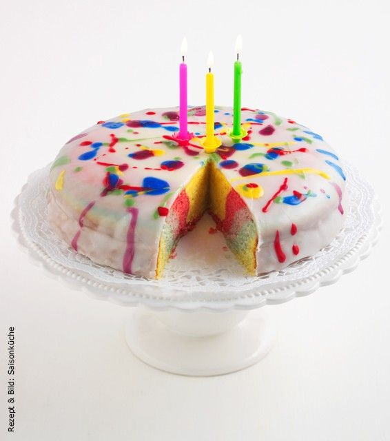 Regenbogen kuchen kalorienarm