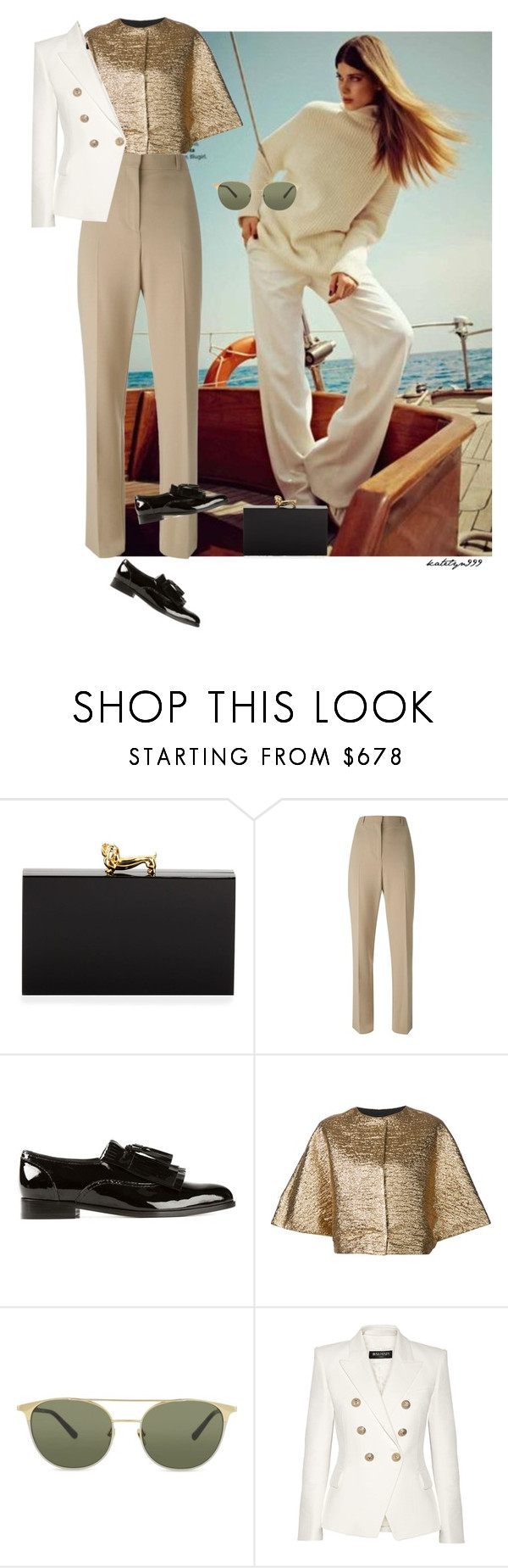 """""""Luxe Life..."""" by katelyn999 ❤ liked on Polyvore featuring Charlotte Olympia, Givenchy, Lanvin, Linda Farrow, Balmain, women's clothing, women's fashion, women, female and woman"""