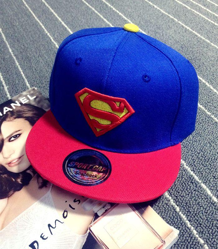 ad469c6244c78 New High Quality Baby Boys Girls Snapback Hats Children Batman Superman  Baseball Cap Kids Cartoon Hip Hop Hat For 3-10 Years Old