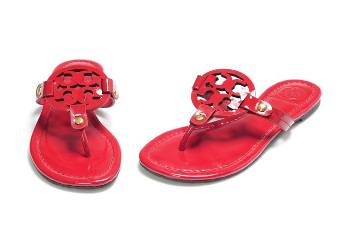 938515a7e Authentic NIB Tory Burch Red Hot Patent Leather Miller Sandals size ...