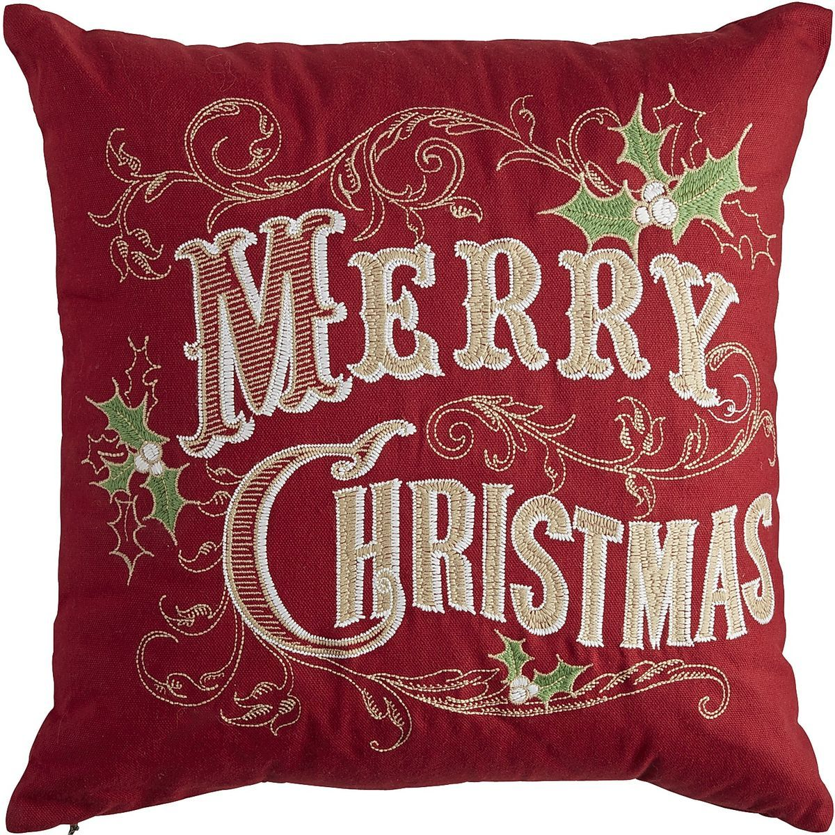 Merry Christmas Pillow - Red Pier 1 Imports christmas colors 2016 Pinterest Christmas ...