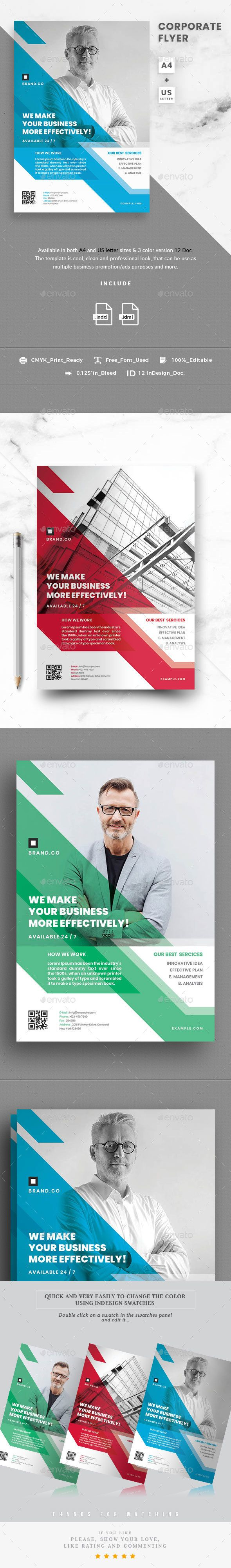 corporate flyer template indesign indd very easy to customize