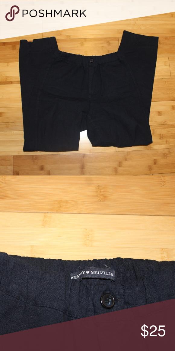 a46a2aabc0017e Brandy Melville Tilden Pants Navy Blue Brandy Melville Tilden Pants. Size  x-small/small (L 27