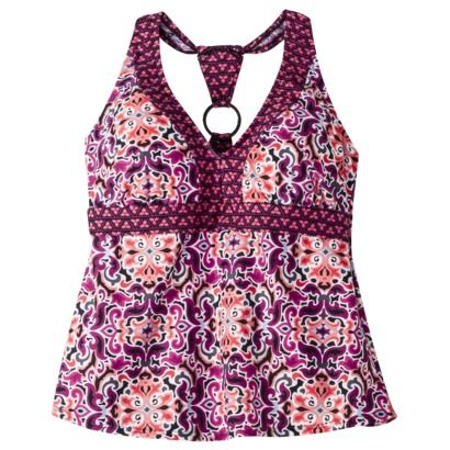 89f55c3ea45 I got this tankini top from Target. Keeps the girls in place and looks  super cute. I could even just wear it as a tank top. I got hot pink string  bikini ...