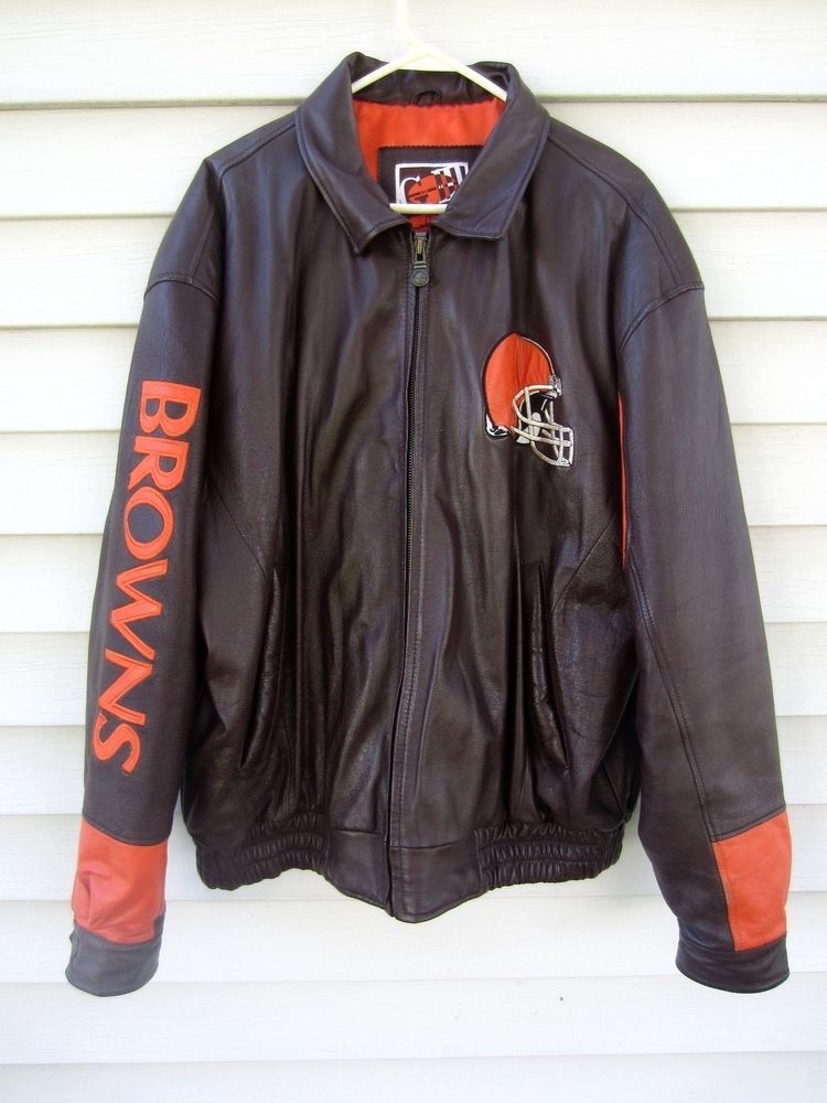 64c156bea GIII (G3) Carl Banks Cleveland Browns Leather Bomber Jacket Men's XL ...
