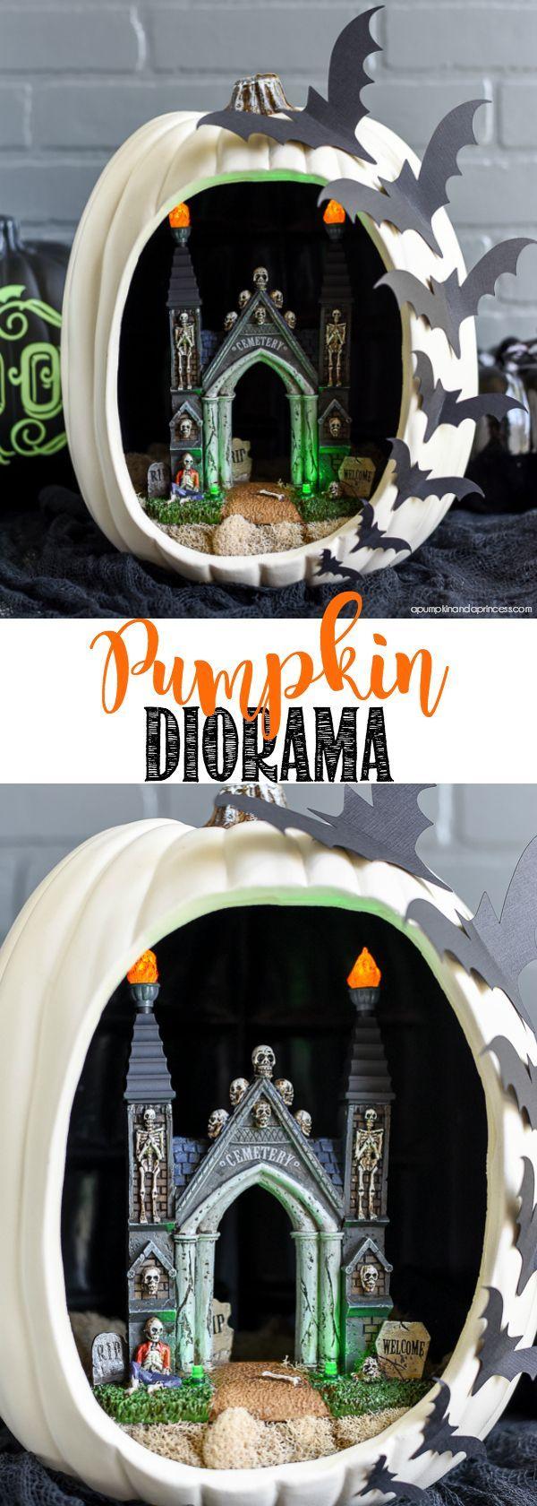 DIY Pumpkin Diorama
