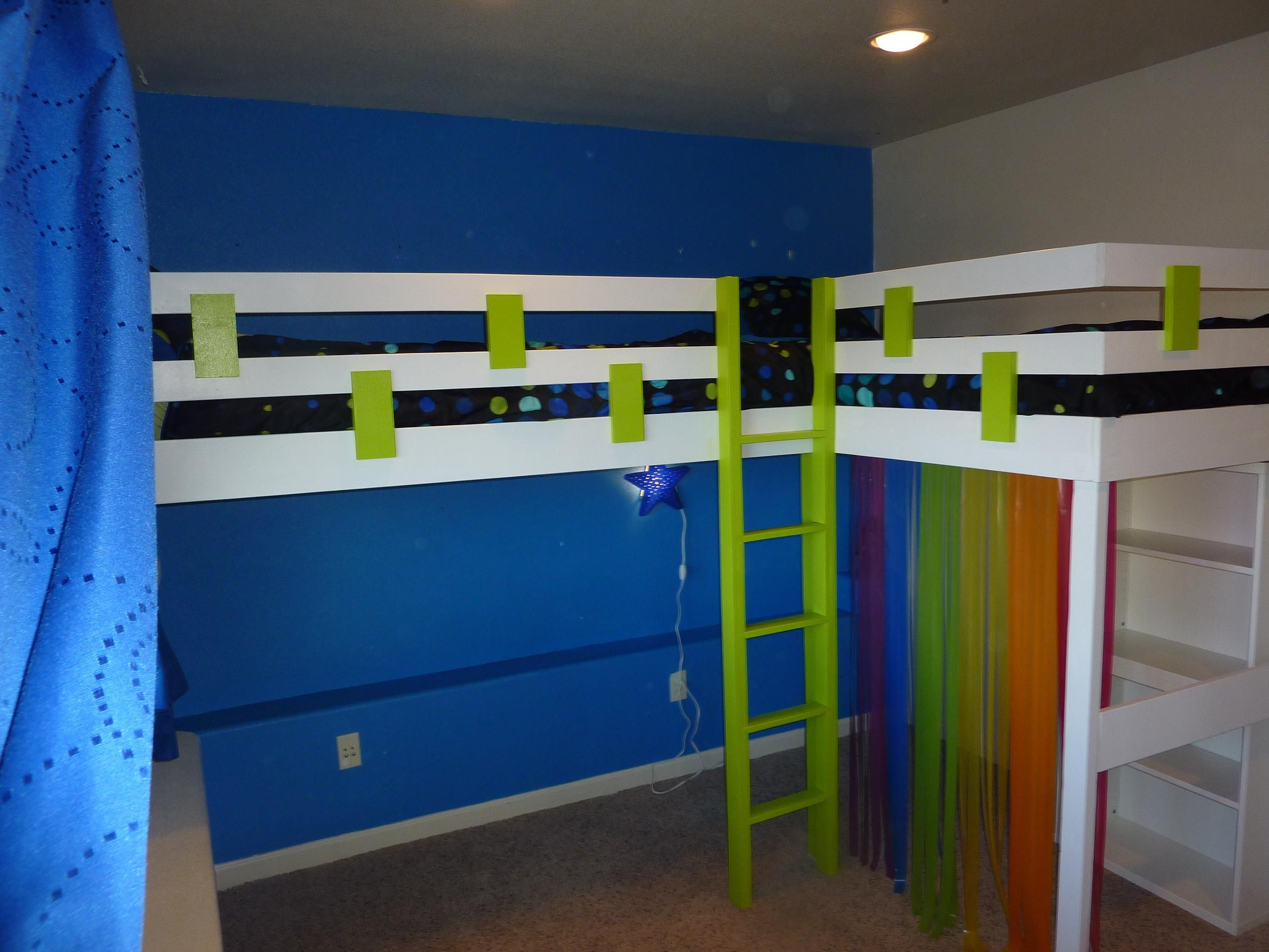 Two Twin Loft Beds Double Bed