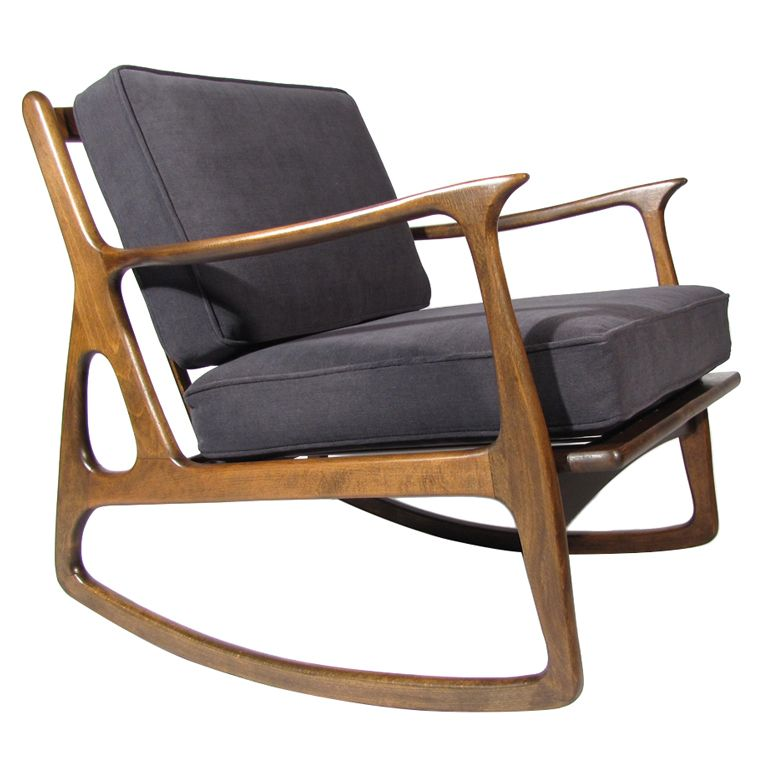 Danish Modern Rocking Chair Godrej Accessories Chairs Furniture