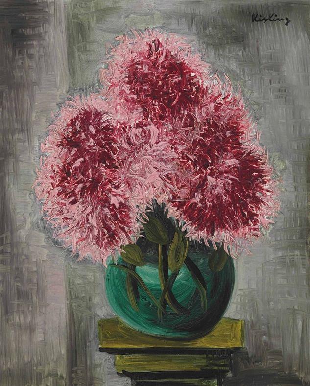 Moise Kisling (Polish-French,1891–1953)Chrysanthemums, 1930via  lilithsplace