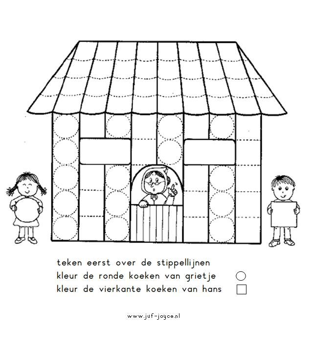 Worksheet Hansel and Gretel from Juf Joyce. First step: Draw the ...