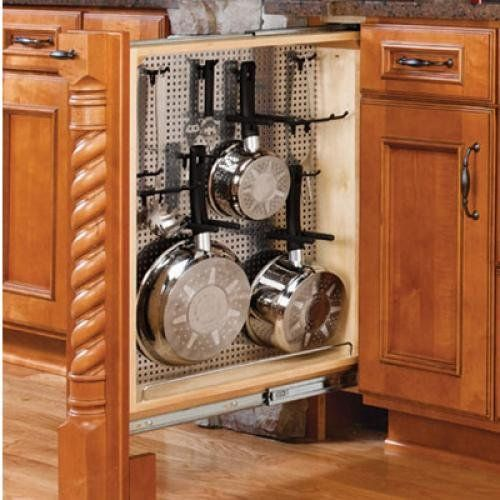 Medium image of rev a shelf 434 bf 6ss base cabinet filler organizer 6