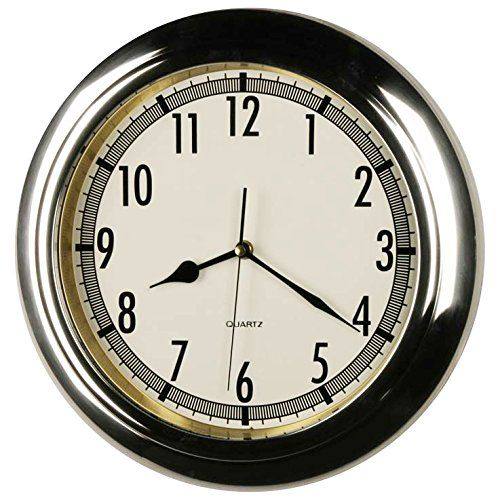 14 Inches Stainless Steel Wall Clock Home Decor Specialty Quality Quartz Modern Design Timepieces