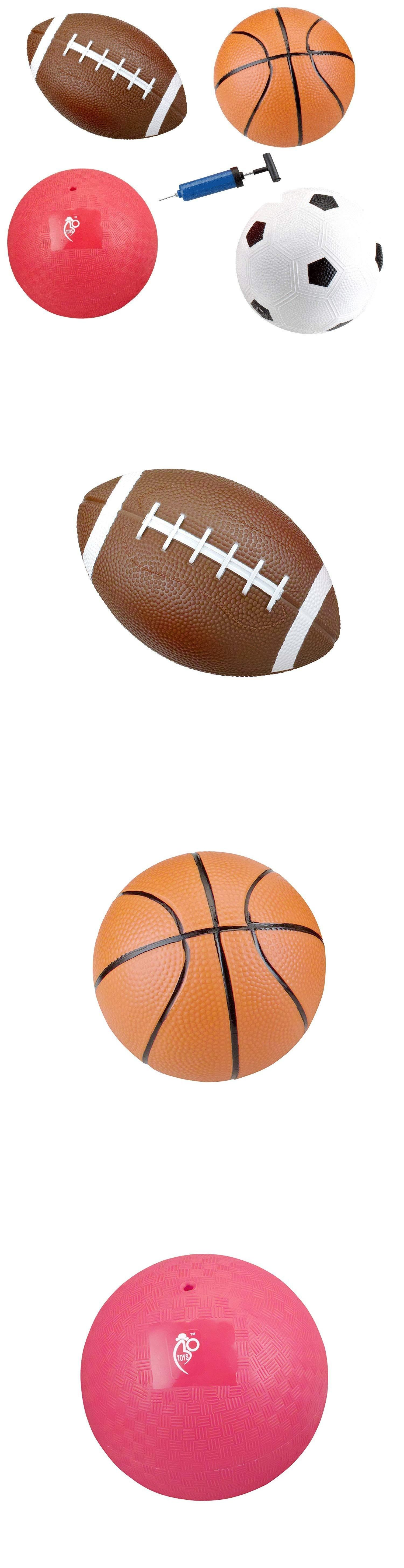 Balls Frisbees And Boomerangs 19017 Set Of 4 Inflatable Sports Balls For Kids Soccer Ball Basketball Football Vo B Kids Soccer Soccer Ball Sports Balls