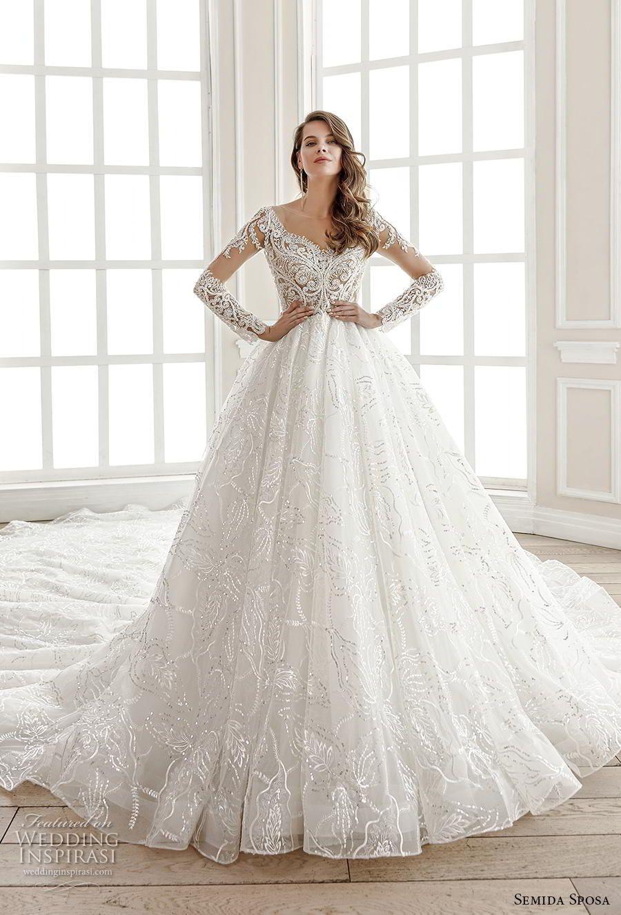 Semida Sposa 2020 Wedding Dresses Amazon Bridal Collection Wedding Inspirasi Wedding Dresses Amazon Wedding Dresses Beaded Wedding Dress Accessories