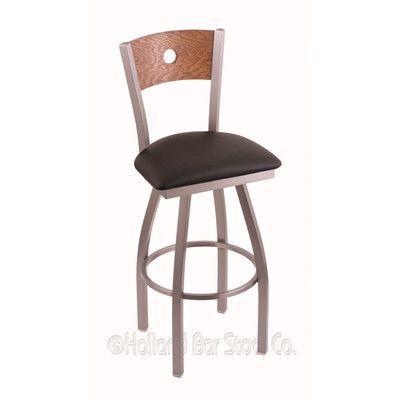 "Holland Bar Stool Voltaire 25"" Swivel Bar Stool with Cushion"