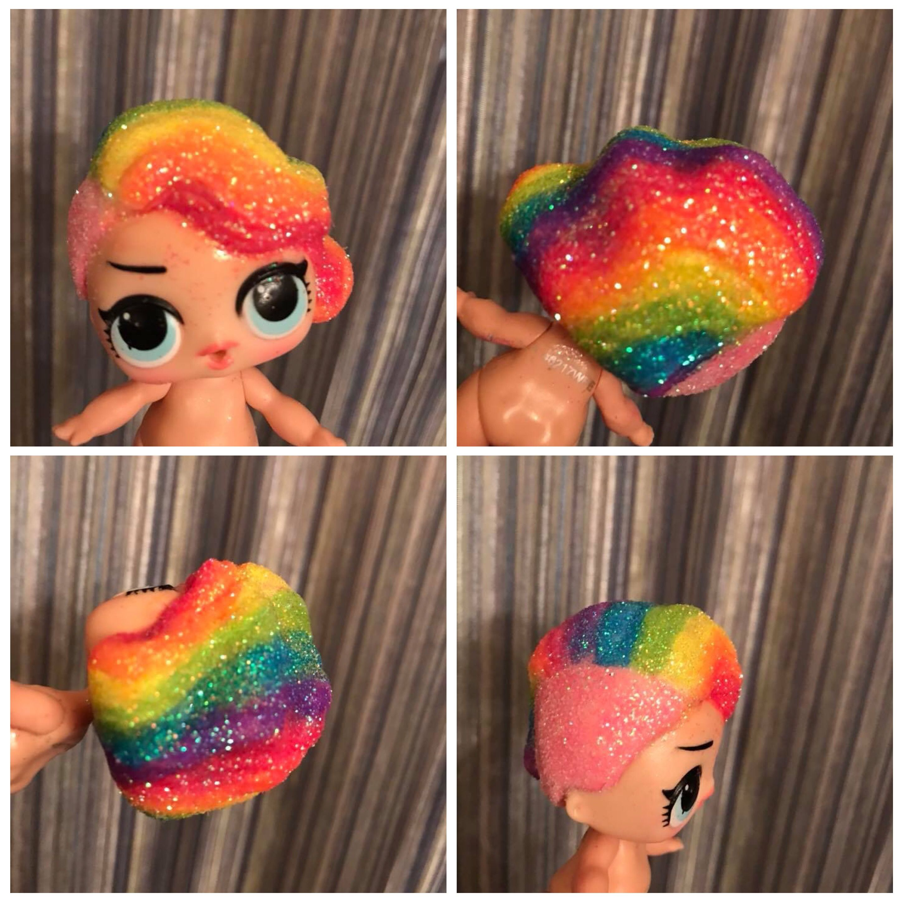 Stunning And Surprising New Looks: Look At This Custom Painted LOL Surprise Doll! Her Hair