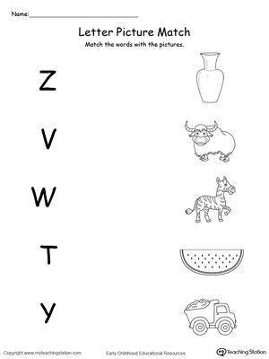 uppercase beginning letter sound z v w t y writing preschool worksheets school worksheets. Black Bedroom Furniture Sets. Home Design Ideas