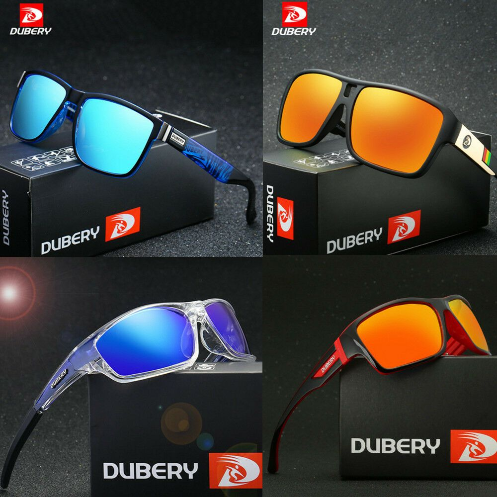 DUBERY Mens UV400 Polarized Sunglasses Cycling Outdoor Sport Driving Glasses