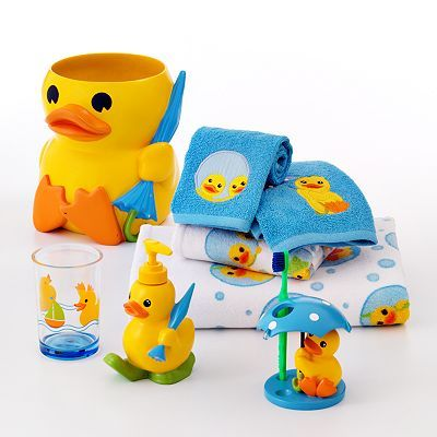 Our Bathroom Set This Is The Fiacee S Pick So He Got It And I Thought It Was Cute It Brought Out Th Rubber Ducky Bathroom Rubber Duck Bathroom Duck Bathroom