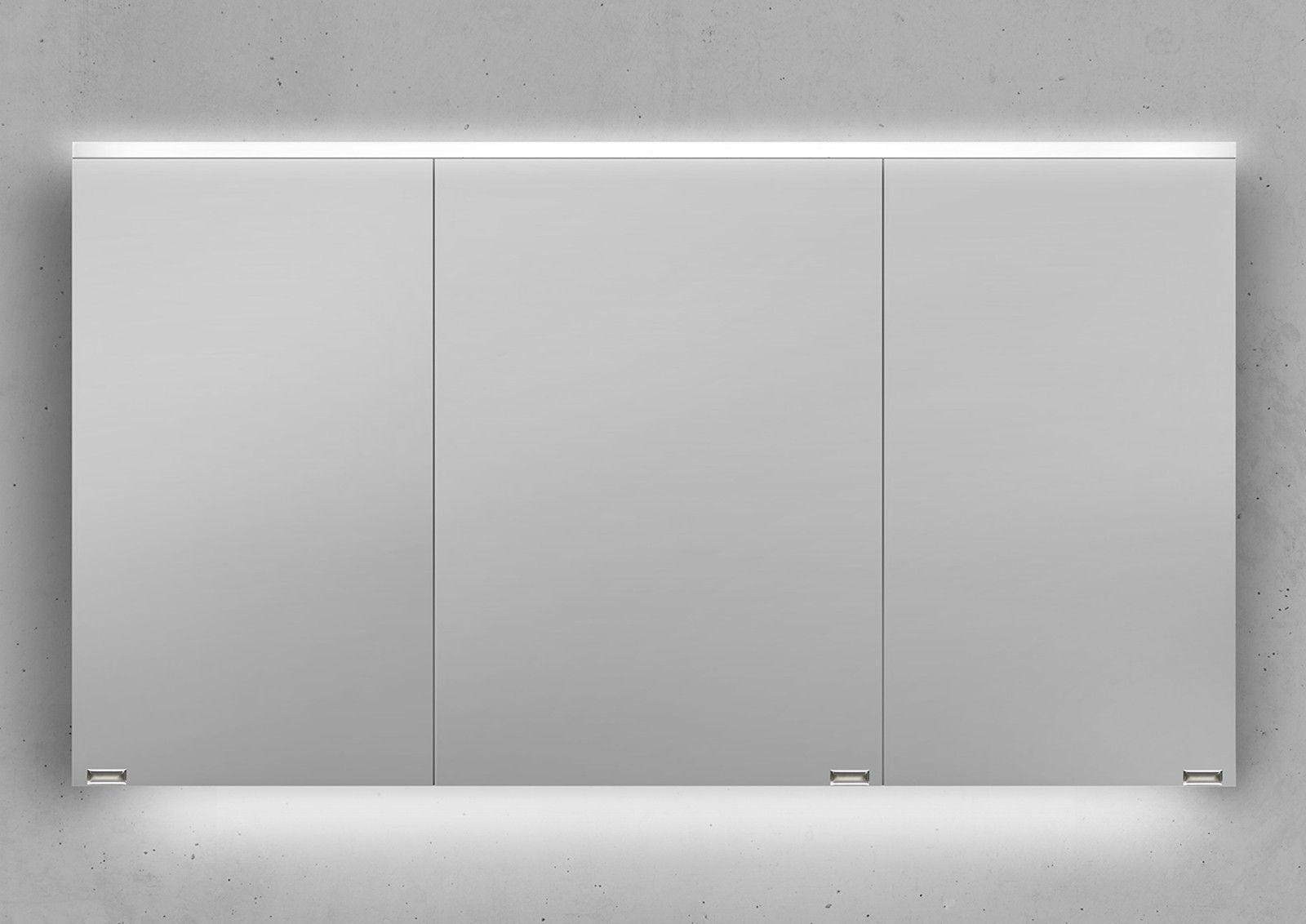 Spiegelschrank 130 Cm Integrierte Led Beleuchtung Doppelt Verspiegelt Spiegelschrank Spiegelschrank Beleuchtung Unterschrank