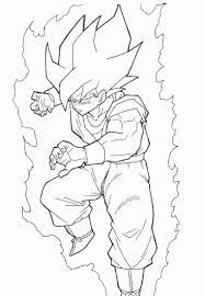 Super Saiyan Goku Coloring Pages Dragon Ball Dragon Ball Z Cute Coloring Pages