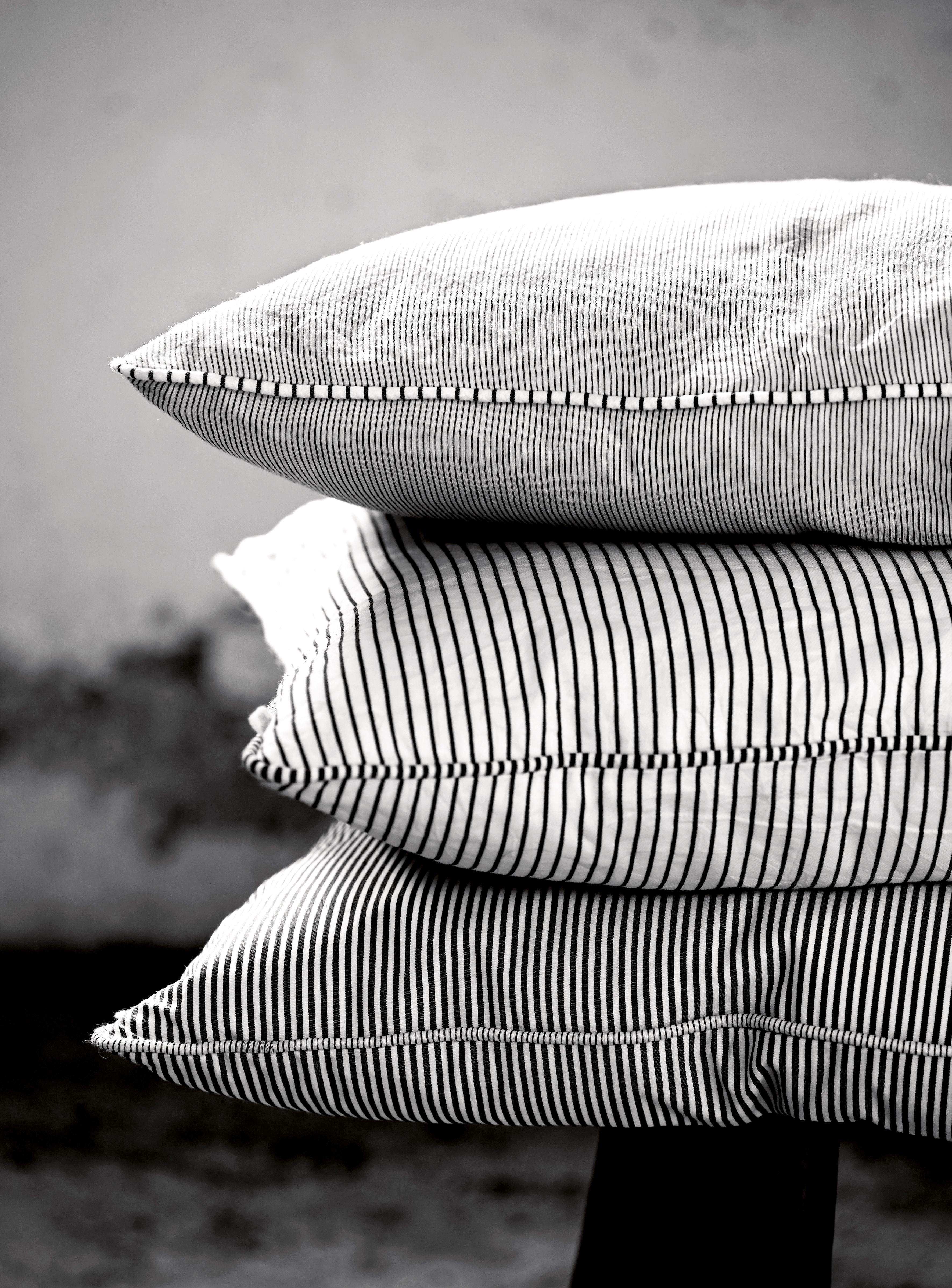 Pinstripe Cushions In Black Or Grey White Tine K Home Www