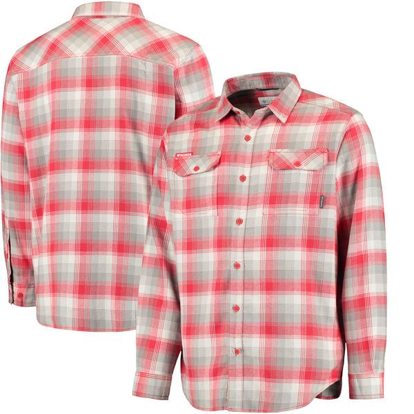 Wisconsin Badgers Columbia Collegiate Flare Gun Flannel Long Sleeve Button-Up Shirt - Red - $54.99