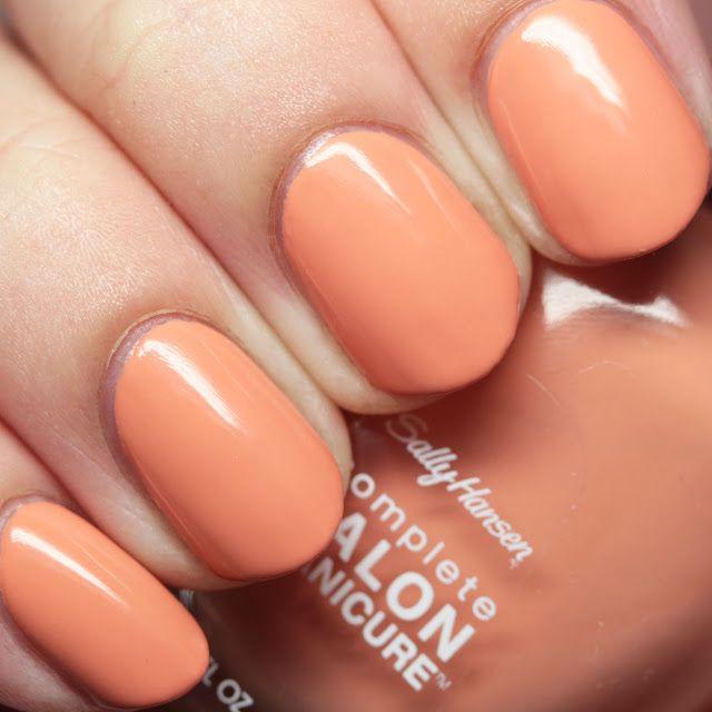 Freedom Of Peach Manicure Sally Hansen Peach Nail Polish