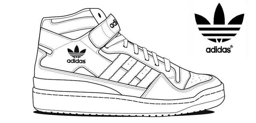 Adidas Shoe Coloring Pages Adidas Outfit Shoes Sneakers Drawing Shoes
