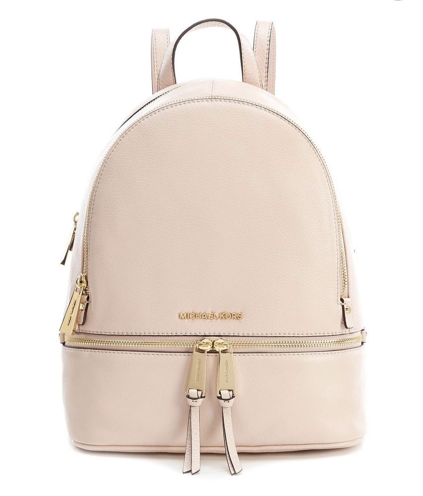 5875fa89f792 AUTHENTIC MK MICHAEL KORS RHEA ZIP BACKPACK Soft Pink!  fashion  clothing   shoes