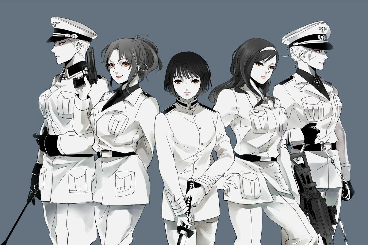 Hetalia Fem Germany Fem Italy Fem Japan Fem Prussia Fem Romano