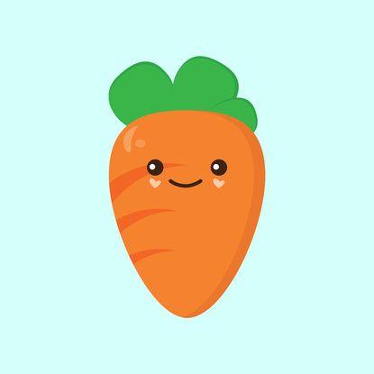 Cute Carrot Art Print