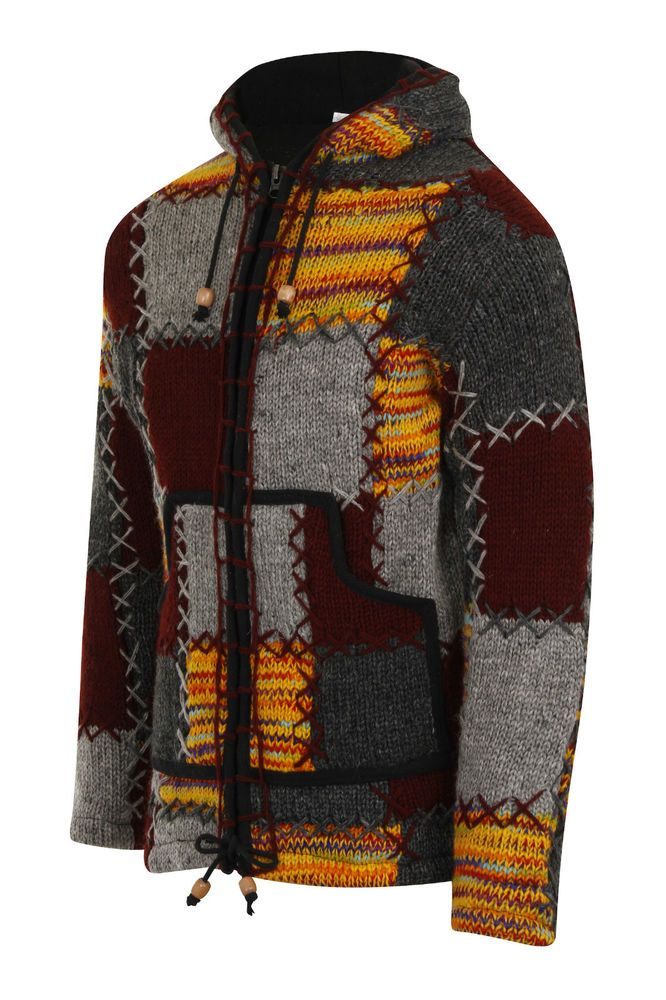 Thick Nepalese Style Patchwork Coat