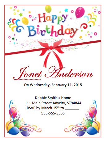 Birthday Flyer Template  Free Flyer Designs    Free