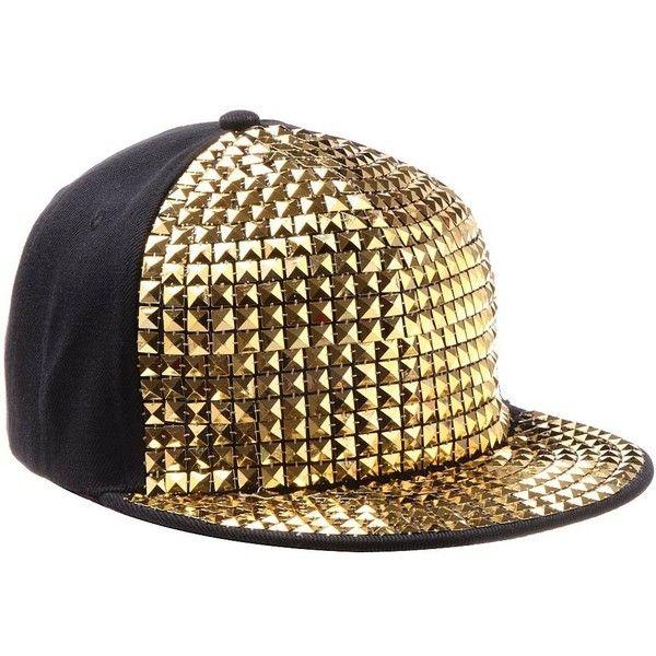 Vbiger Pyramid Plastic Studs Bling Flat Hip Hop Cap Rivet Spikes Hat ... 1cce71403633