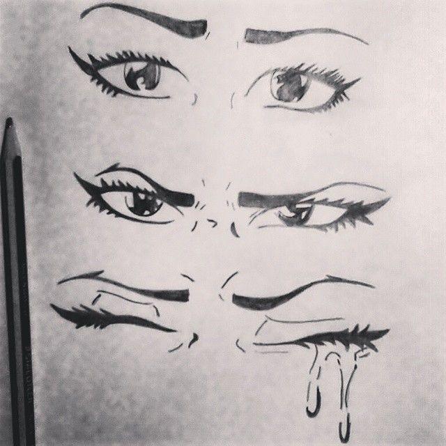 Draw Dibujo Eyes Ojos Angry Sad Cry Enojada Triste Llorando
