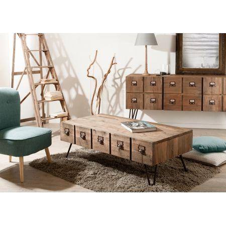 Table basse 1 tiroir meubles macabane meubles et objets de décoration