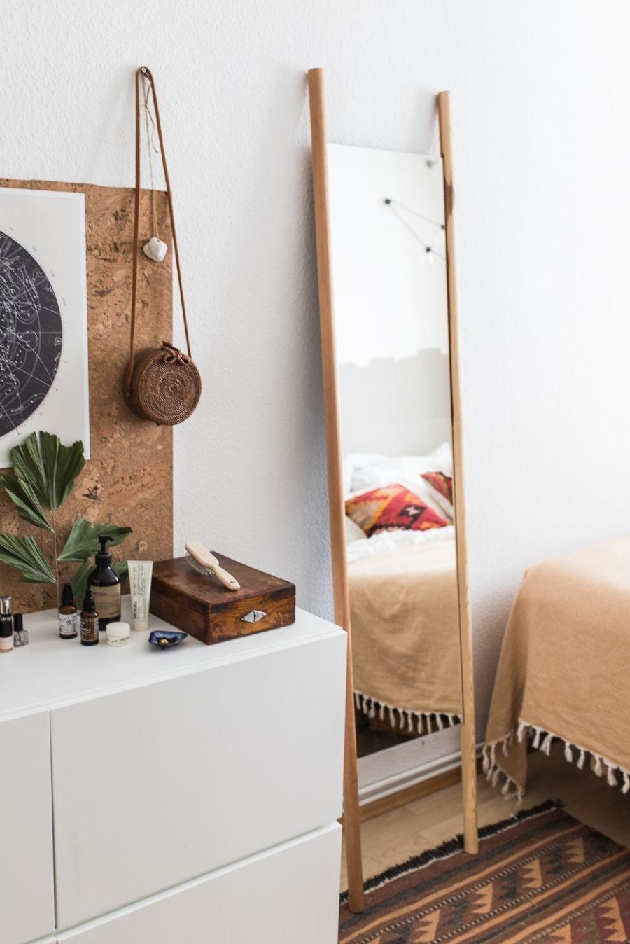 Spiegel Zum Anlehnen Im Schlafzimmer Diy Schlafzimmer Diy