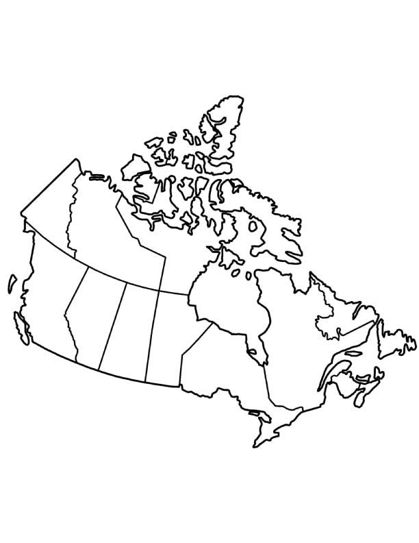 Canada Map Coloring Page Coloring Pages Canada Tattoo