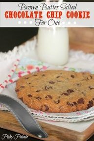 Brown Butter Salted Chocolate Chip Cookie for One by Picky Palate