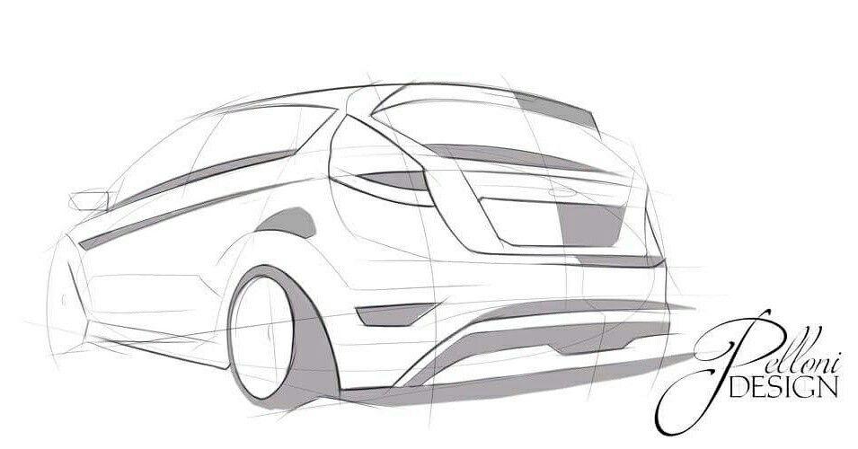 Handmade Digital Sketch Ford Fiesta St Grafis