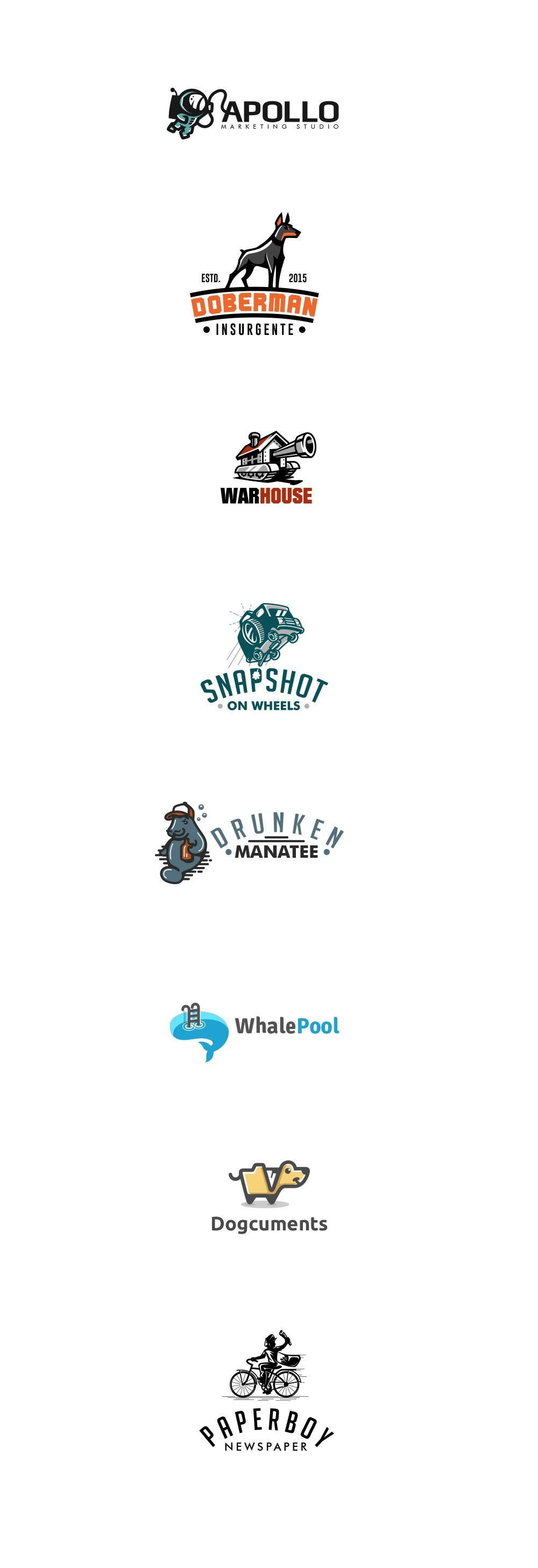 Here is a first selection of my logos made in 2014-2015 #